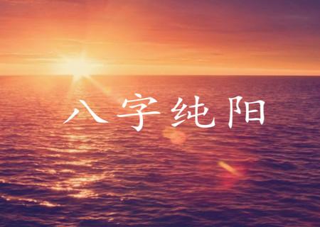 八字纯阳是什么意思